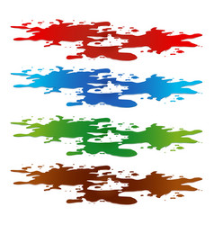 Puddle paint spill blood toxic water and vector