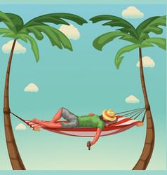 Relax in hammock vector