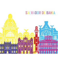 salvador de bahia v2 skyline pop vector image