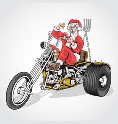 santa claus cooper bike vector image