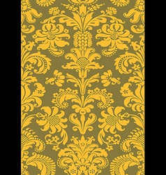 Seamless floral damask pattern antique vector