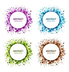 Set of Colorful Abstract Circles vector