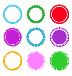 set of design elements and labels vector image