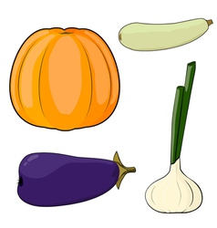 Set of vegetables EPS10 vector image vector image