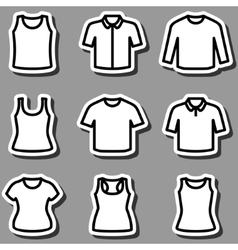 set t-shirts icon vector image