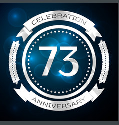 seventy three years anniversary celebration with vector image