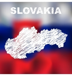 slovak abstract map vector image
