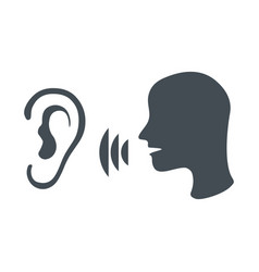 Speak and listen symbol vector