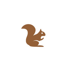 squirrel eating walnuts almonds for logo design vector image