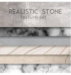 Stone texture samples realistic set vector