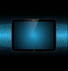 technology future modern tablet binary tube vector image