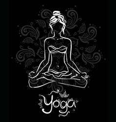 Theme meditation and yoga vector