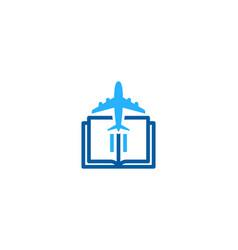 vacation book logo icon design vector image