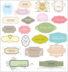 Vintage empty labels vector