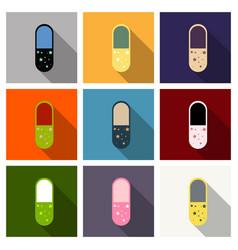 Vitamin complex of pill capsule lifestyle vector