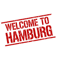 Welcome to hamburg stamp vector