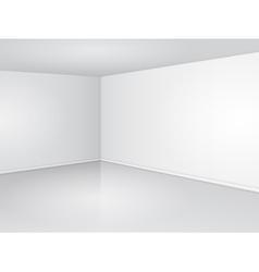 White room corner vector