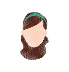 Woman sport headband vector