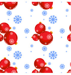 christmas and happy new year seamless pattern vector image vector image