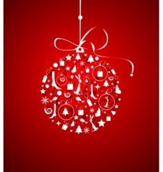 Christmas ball for your design vector image