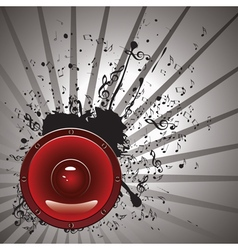 Music Poster with Audio Speaker3 vector image vector image