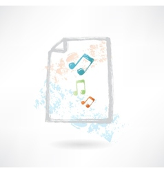 Paper music grunge icon vector image vector image