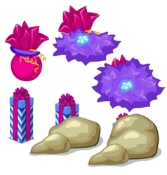 Purple gift boxes for games or other design needs vector image vector image