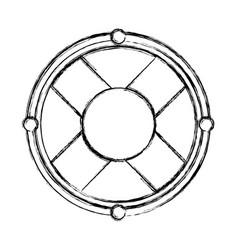 sketch draw lifebuoy icon cartoon vector image