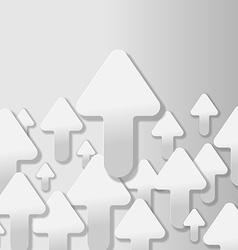 Arrow Grey Up Vertical Background vector image