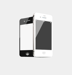 Black and white phone vector image vector image