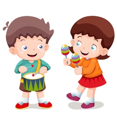 Boy and girl music vector image vector image