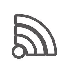 grayscale contour with wifi icon vector image