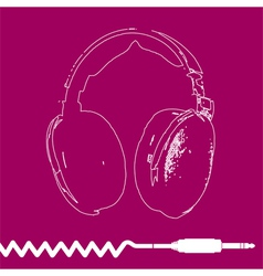 Headphones Outline Design vector image