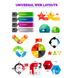 set of paper graphics - infographic or web box vector image