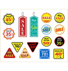 Set of retro promotion discount sale label vector image vector image