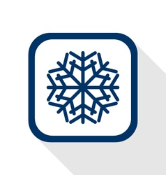 snow flake flat icon vector image