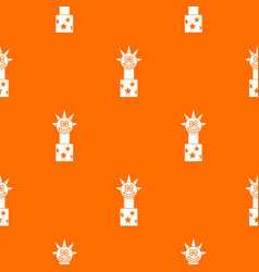 toy jumping out of box pattern seamless vector image