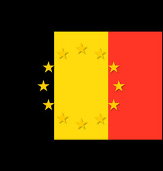 belgium national flag with a circle of eu vector image vector image