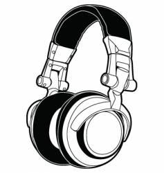 Dj headphones vector