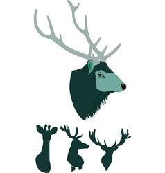 portraits Deers vector image