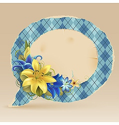 vintage speech bubble vector image