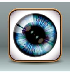 App design eye icon vector image vector image