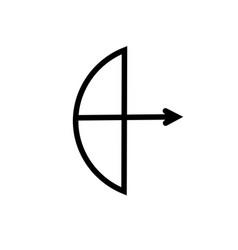 archery arrow icon vector image
