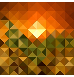 Autumn season triangle seamless pattern background vector image vector image