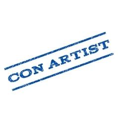 Con artist watermark stamp vector