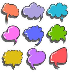 Set of colorful speech bubble vector