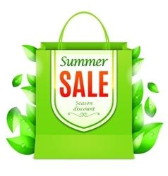 Summer Sale Shopping Bag vector image vector image