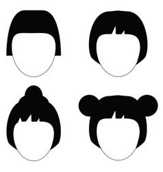 Woman hair hairstyle silhouette vector