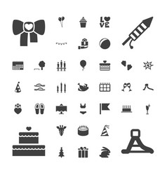 37 holiday icons vector