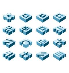 3d design elements vector